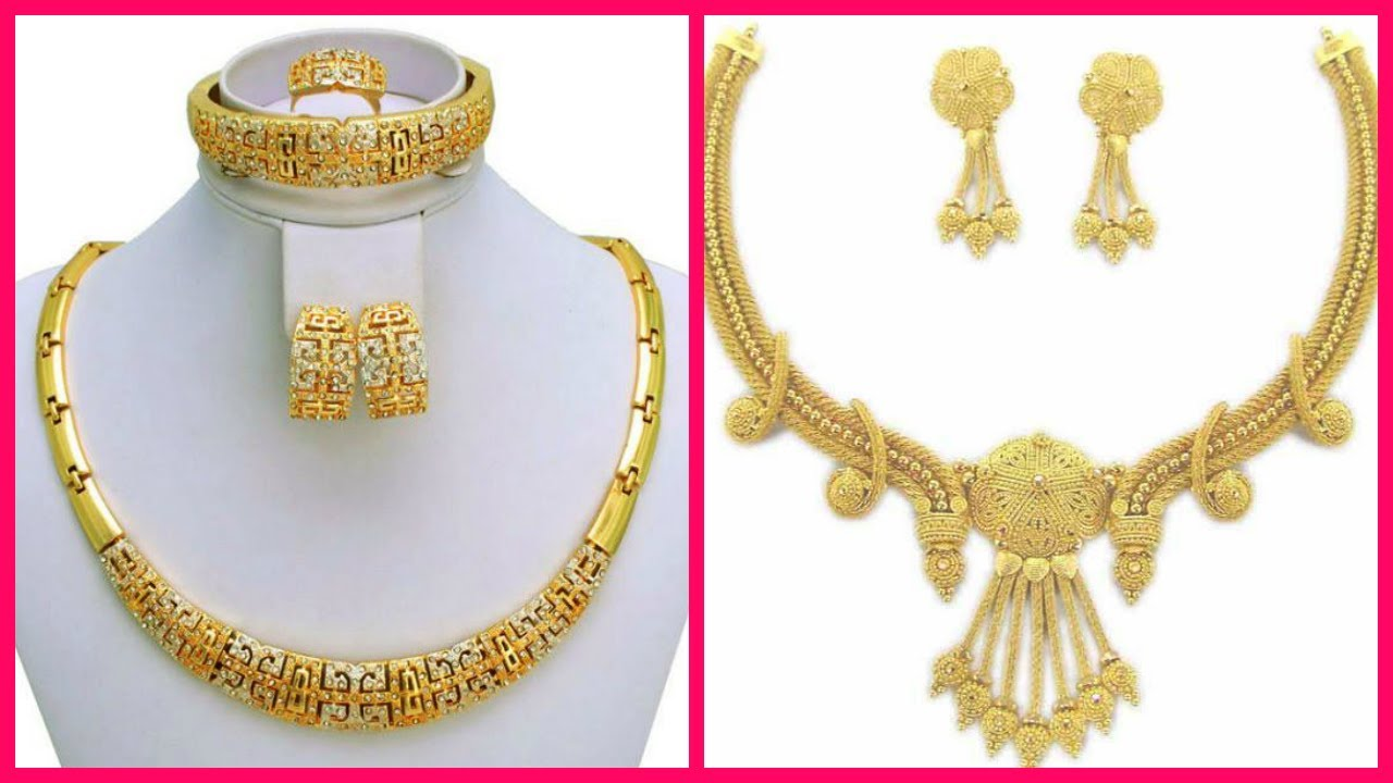 Dubai Gold Necklace Designs With Price - YouTube