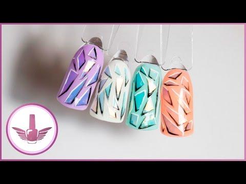Маникюр «Битое стекло»: как делать стеклянный дизайн ногтей?