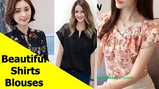 50 Beautiful Shirt and Blouse Designs For Women S17