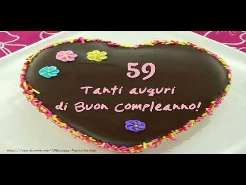 Cartoline Animate E Musicali Buon Compleanno 59 Anni Youtube