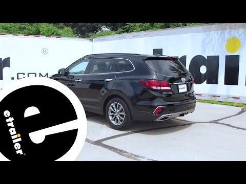 Trailer Hitch Installation - 2017 Hyundai Santa Fe - Draw-Tite - Etrailer.com