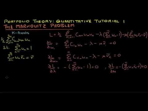 portfolio-theory:-quantitative-tutorial-1-(-the-markowitz-problem)*