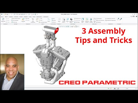 Creo Parametric - 3 Assembly Tips and Tricks - Repeat, Parameters, and Assembly UDFs