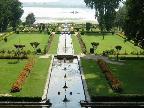 Mughal Garden - Nishat Bagh Srinagar Kashmir HD video