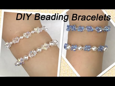 Easy Diy Beading Bracelets With Swarovski Pearls And Crystal Bicone Beads
