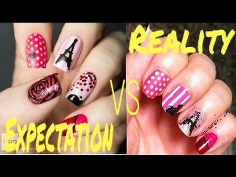 14 Expectation VS Reality Nail Art