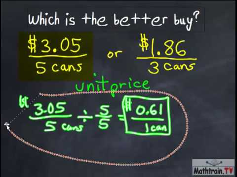 Which is the Better Buy? (CCSS 6.RP.A.3b) - YouTube