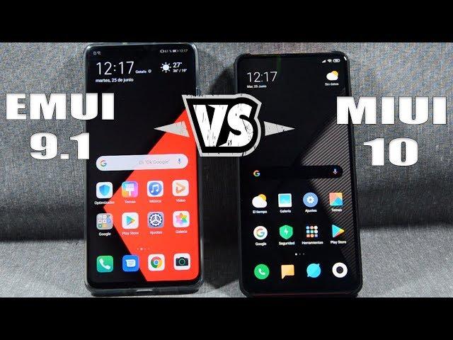 EMUI 9.1 vs MIUI 10 🤭🤭 NO SON TAN DIFERENTES