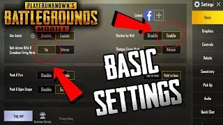 PUBG MOBILE BASIC SETTINGS | BEST SETTINGS FOR GOOD AIM AND EASY WINNING IN PUBG [MUST WATCH]