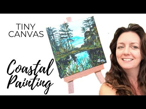 Seascape Painting / Acrylic Painting (Mini Canvas Timelapse)