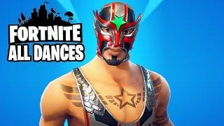 Fortnite Masked Fury Rare Performs All Dances Season 1-5