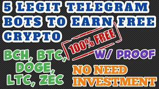 TOP 5 LEGIT TELEGRAM BOTS TO EARN FREE CRYPTO | HOW TO ADVERTISE USING TELEGRAM BOTS? | FREE STUFFS