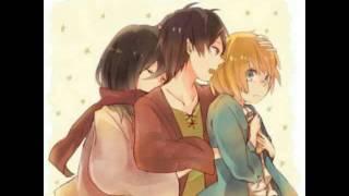 Attack On Titan AMV Count on me Eren Mikasa, Armin