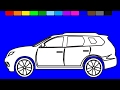 Super car coloring pages | Fun Coloring videos for kids to learn colors | KidsTV Jacky
