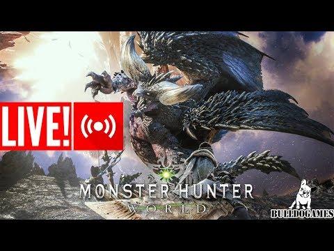 LIVE - CAÇA AOS BIXOS - Monster Hunter World - CANAL BULLDOGAMES