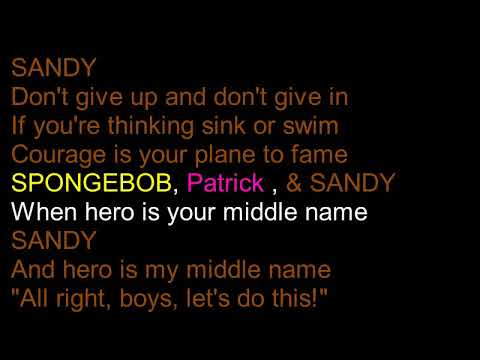 Hero is my Middle  Name Lyrics