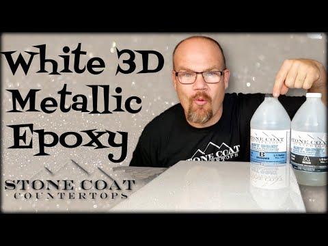White 3D Metallic Epoxy