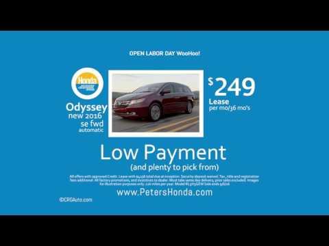 Honda Odyssey Lease Nashua New Hampshire