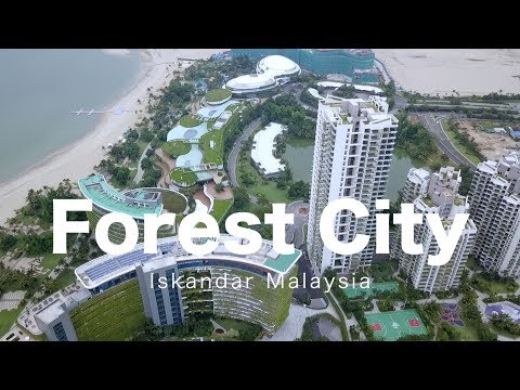 Forest City Iskandar Malaysia, Johor  - Progress as 23 July 2018
