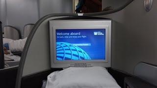 United Airlines Global First Class 777 Singapore to Hong Kong