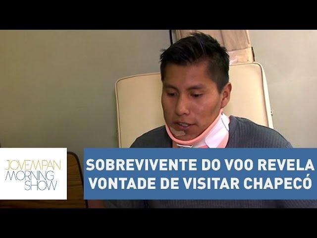 Sobrevivente do voo da Chapecoense, Erwing Tumiri revela vontade de visitar Chapecó