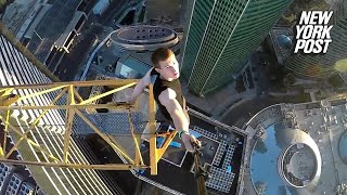 How the Russian Spider-Man Does Crazy Parkour Tricks from Such Insane Heights | New York Post