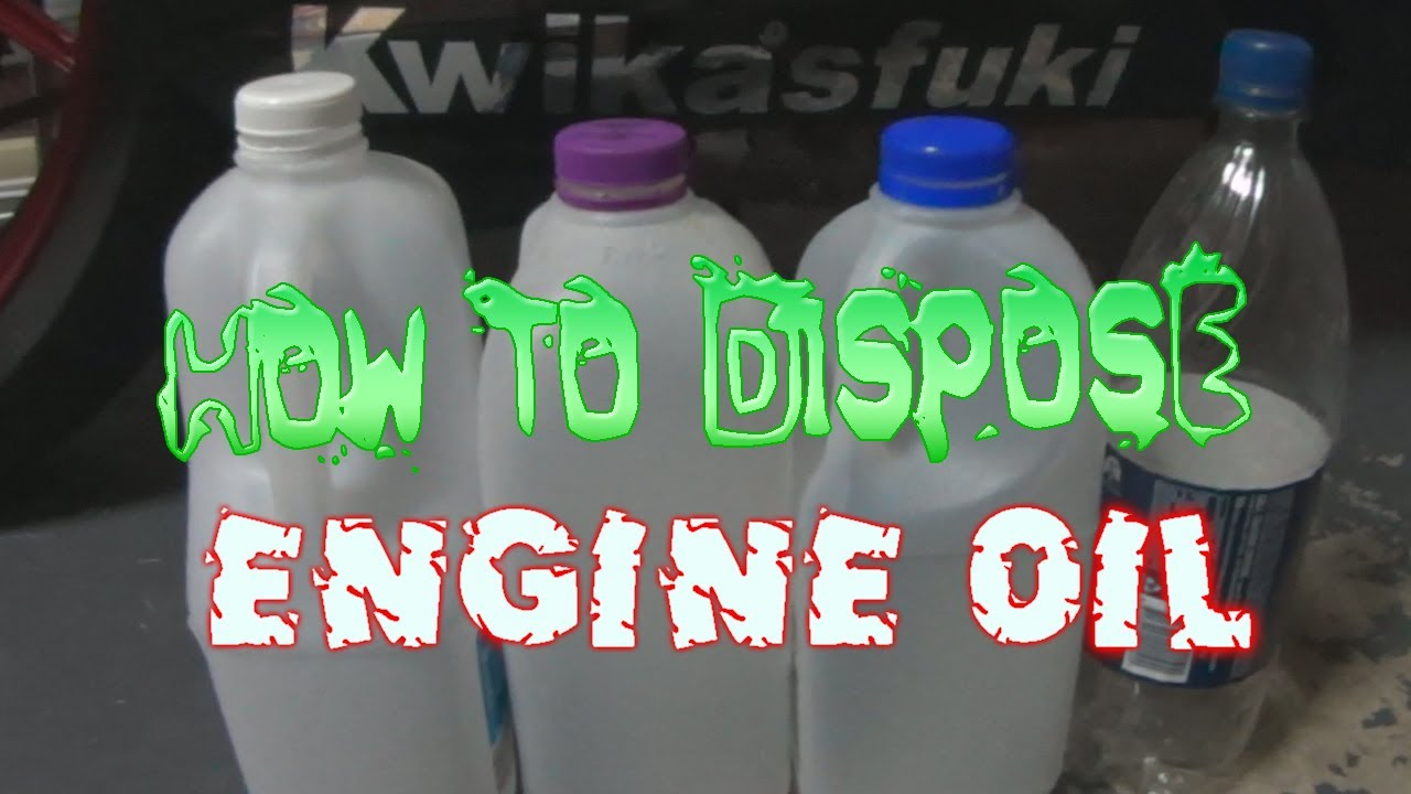 How to dispose engine oil youtube for How do you dispose of motor oil