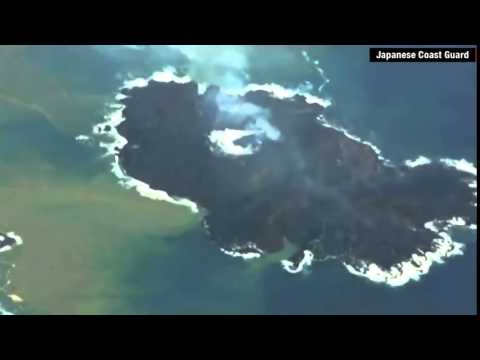 ★ Volcano forms new island in Japan