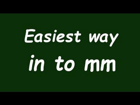 Convert inch to milimeter in mm formula example convertion factor also rh youtube