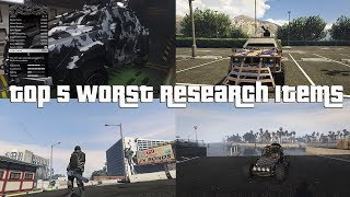 GTA Online Top 5 Worst Research Items