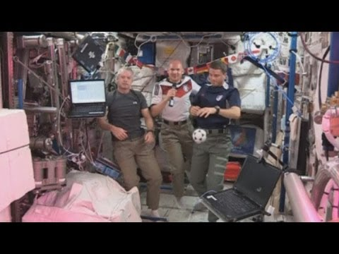 World Cup fever for astronauts on the International Space Station
