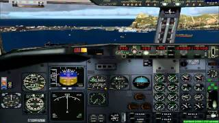 FS2004 - Landing at Airport of Gibraltar with Tui Fly B737.mp4