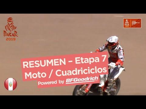 Resumen - Moto/Cuadriciclos - Etapa 7 (San Juan de Marcona / San Juan de Marcona) - Dakar 2019