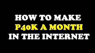 Make P40K A Month Trading Binary Options TAGALOG
