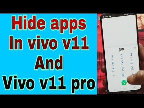 How to hide apps in vivo v11 pro and vivo v11 - YouTube