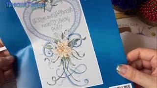 """#136/Крестик. Обзор и начало вышивания набора Janlynn """"Cherished Wedding""""-свадебная метрика"""