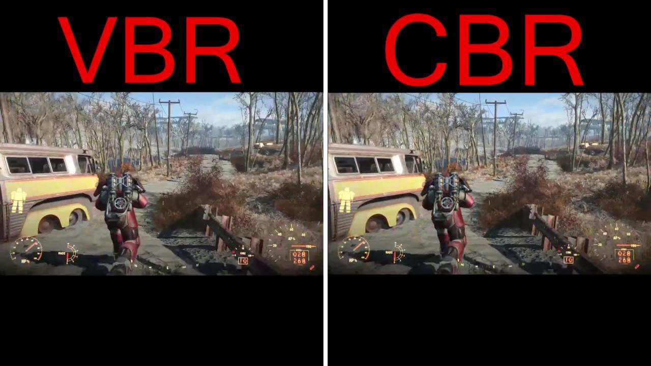 VBR vs  CBR Quality Test - Which One Is Better? Fallout 4