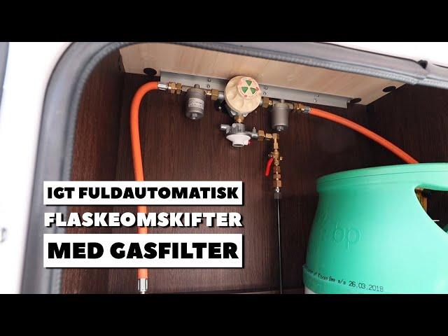 IGT fuldautomatisk flaskeomskifter med gasfilter (Reklame)