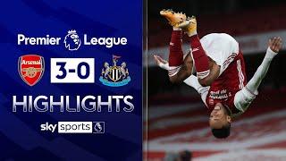 Aubameyang bags brace as Gunners run riot! | Arsenal 3-0 Newcastle | Premier League Highlights