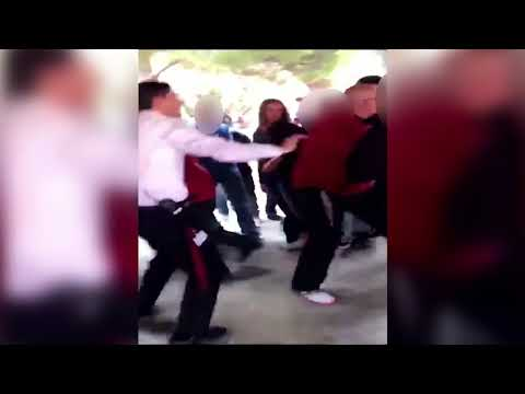 Fights break out after peaceful protests at Paso Robles High School