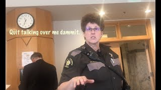 Caucasian Gals at Court Clerk & King County Deputy Sheriff Hate the First Amendment