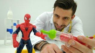 Episode № 8 - Spiderman chez le docteur Ouille. Vidéo en français pour enfants