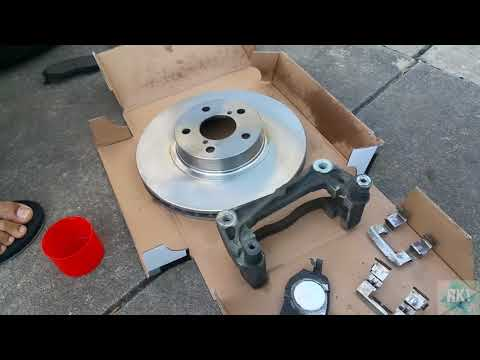 How to Replace front brake rotors and pads in subaru