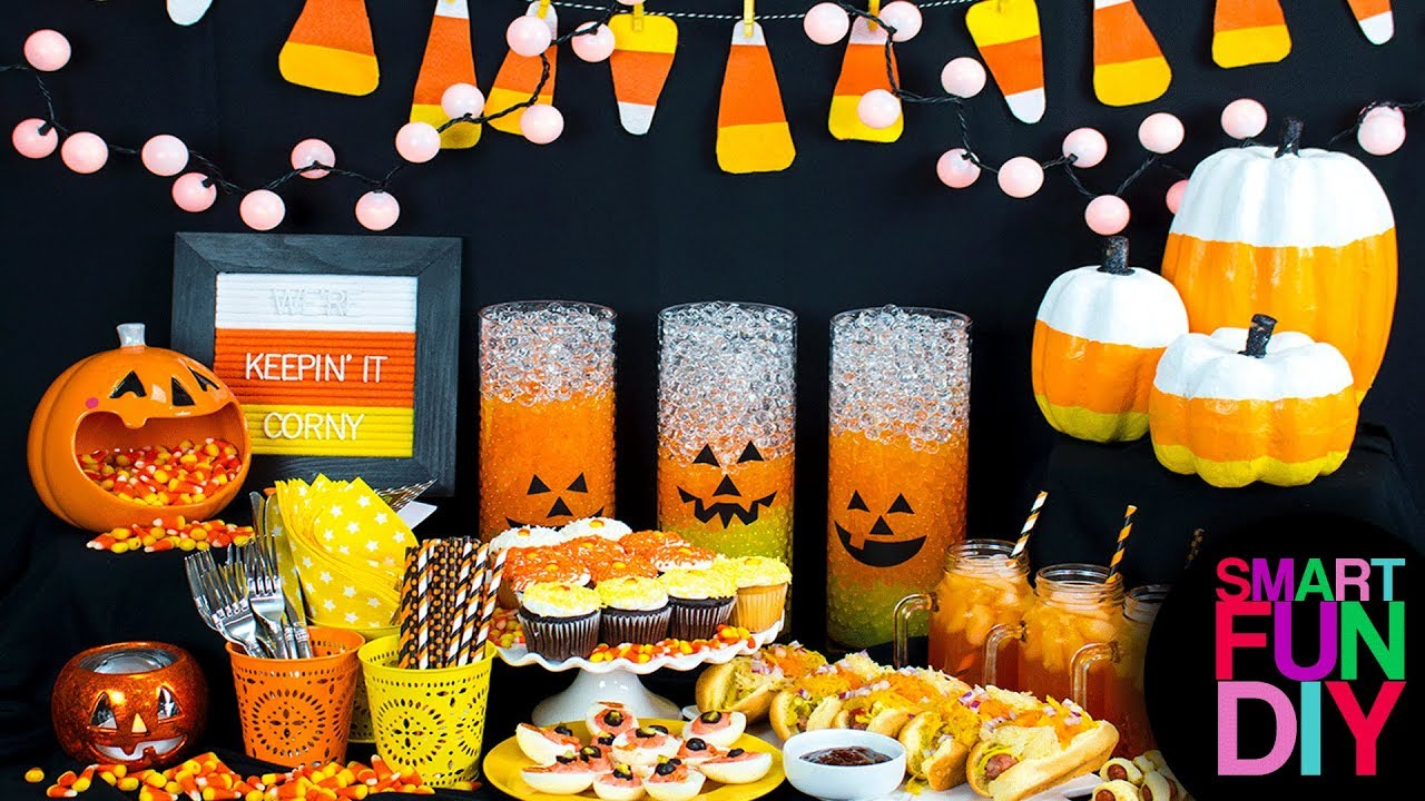 How To Make Halloween Party Decor Candy Corn Diy Party Halloween
