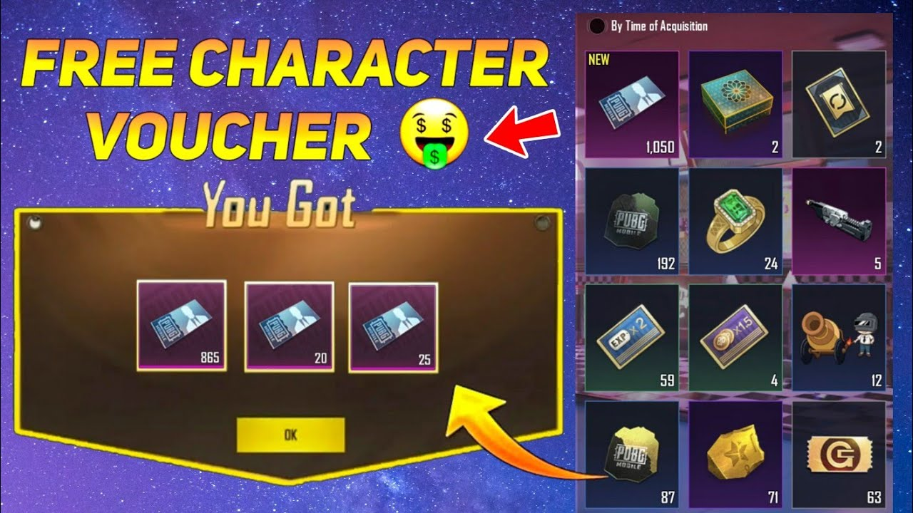 How To GET FREE CHARACTER VOUCHER IN PUBG MOBILE - SAMSUNG,A3,A5,A6,A7,J2,J5,J7,S5,S6,S7,59,A10,A20