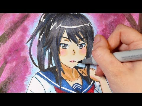 Speed Drawing: Yandere Simulator Ayano Aishi
