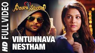Full Video: Vintunnava Nestham | Telugu Nee Jathaga Nenundaali Film |Sachin J, Nazia H| Ankit Tiwari