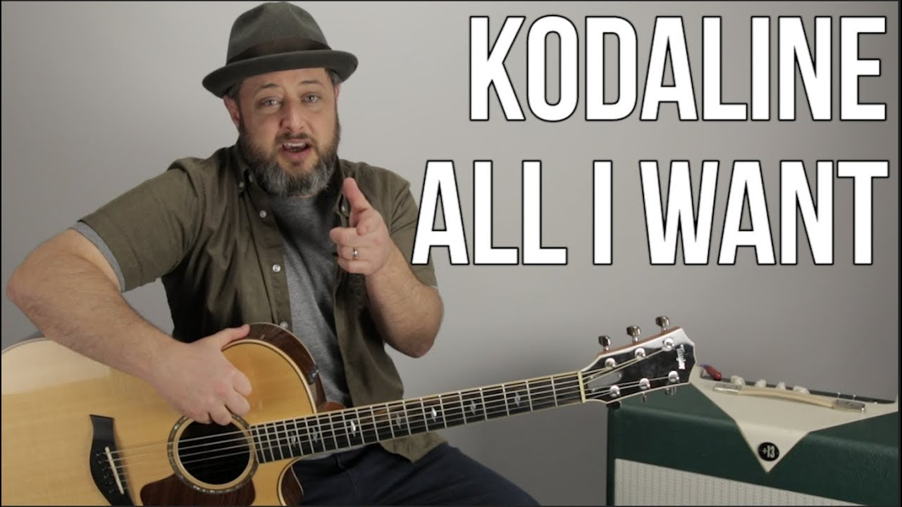 Kodaline All I Want Guitar Lesson Easy Acoustic Youtube