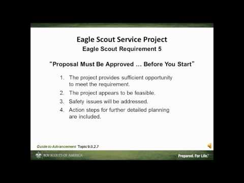 The Eagle Scout Service Project 17 min)