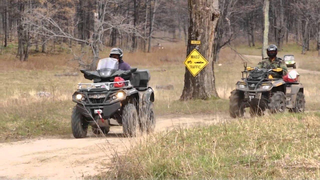 Orv Atv Trail Ride Indian River To Wolverine Mi Youtube